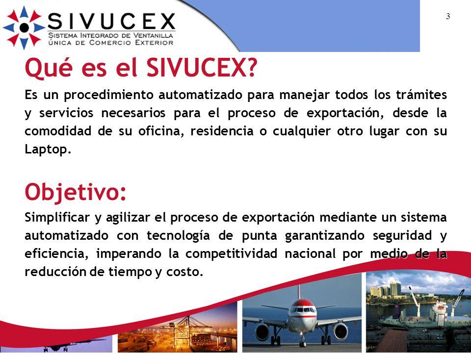 Qué es el SIVUCEX Objetivo: