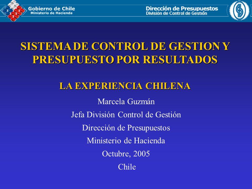 SISTEMA DE CONTROL DE GESTION Y PRESUPUESTO POR RESULTADOS