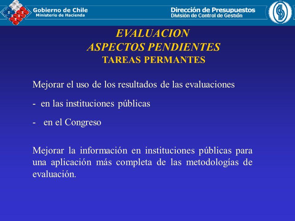 EVALUACION ASPECTOS PENDIENTES TAREAS PERMANTES