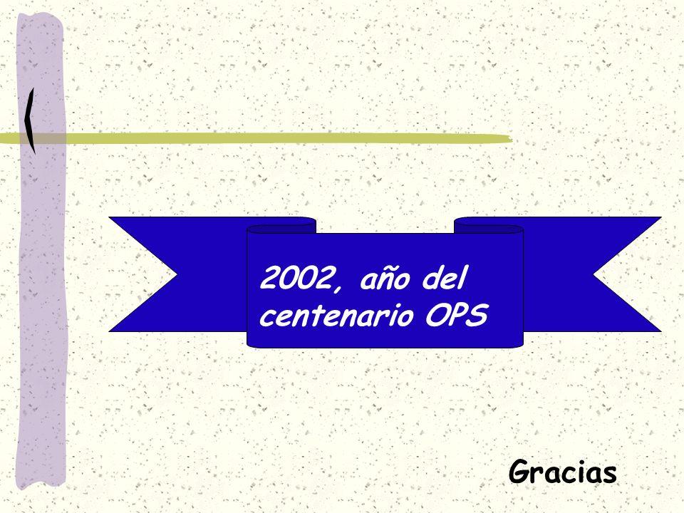 2002, año del centenario OPS Gracias