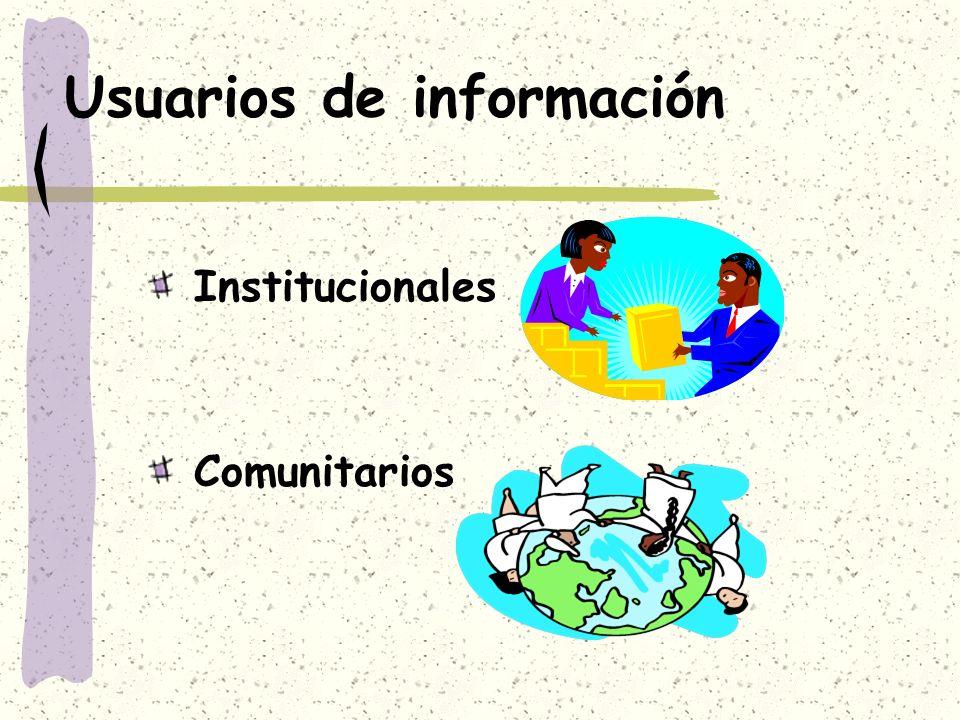 Usuarios de información