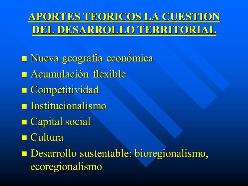 APORTES TEORICOS LA CUESTION DEL DESARROLLO TERRITORIAL