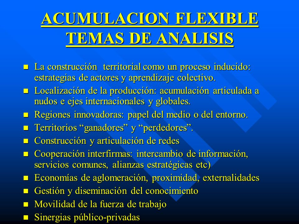 ACUMULACION FLEXIBLE TEMAS DE ANALISIS