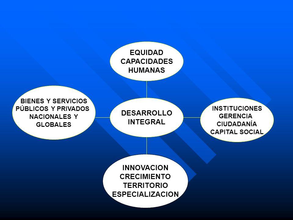 BIENES Y SERVICIOS PÚBLICOS Y PRIVADOS CRECIMIENTO TERRITORIO