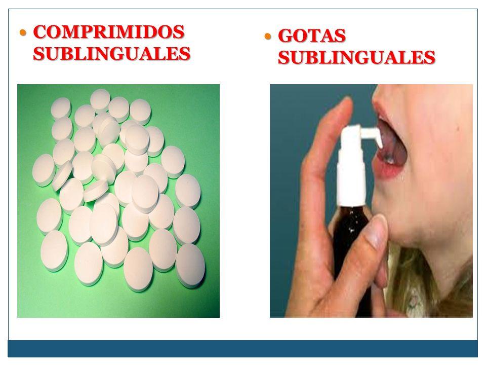 COMPRIMIDOS SUBLINGUALES