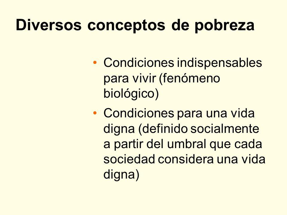 Diversos conceptos de pobreza