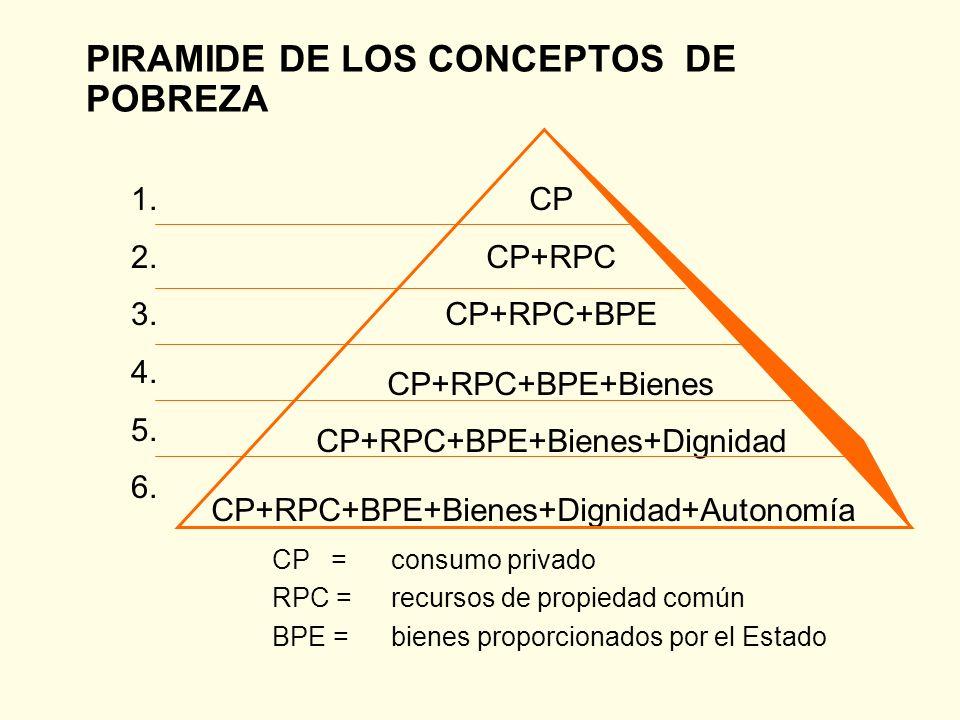 PIRAMIDE DE LOS CONCEPTOS DE POBREZA