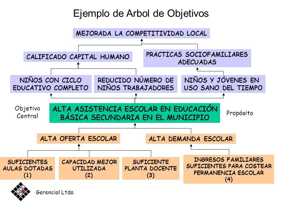 Ejemplo de Arbol de Objetivos