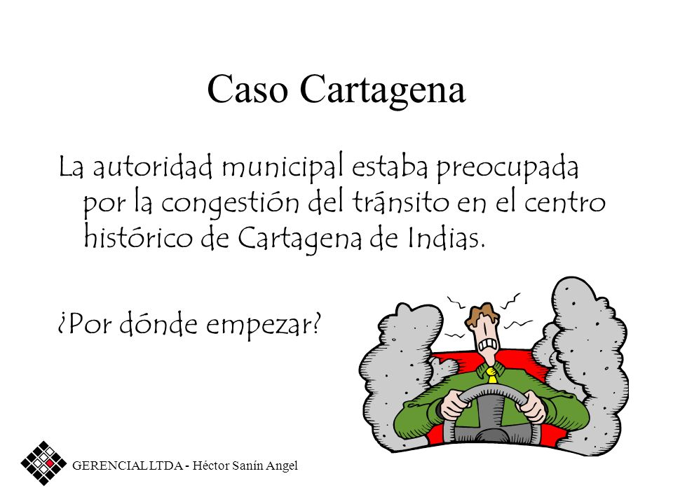 Caso CartagenaLa autoridad municipal estaba preocupada por la congestión del tránsito en el centro histórico de Cartagena de Indias.