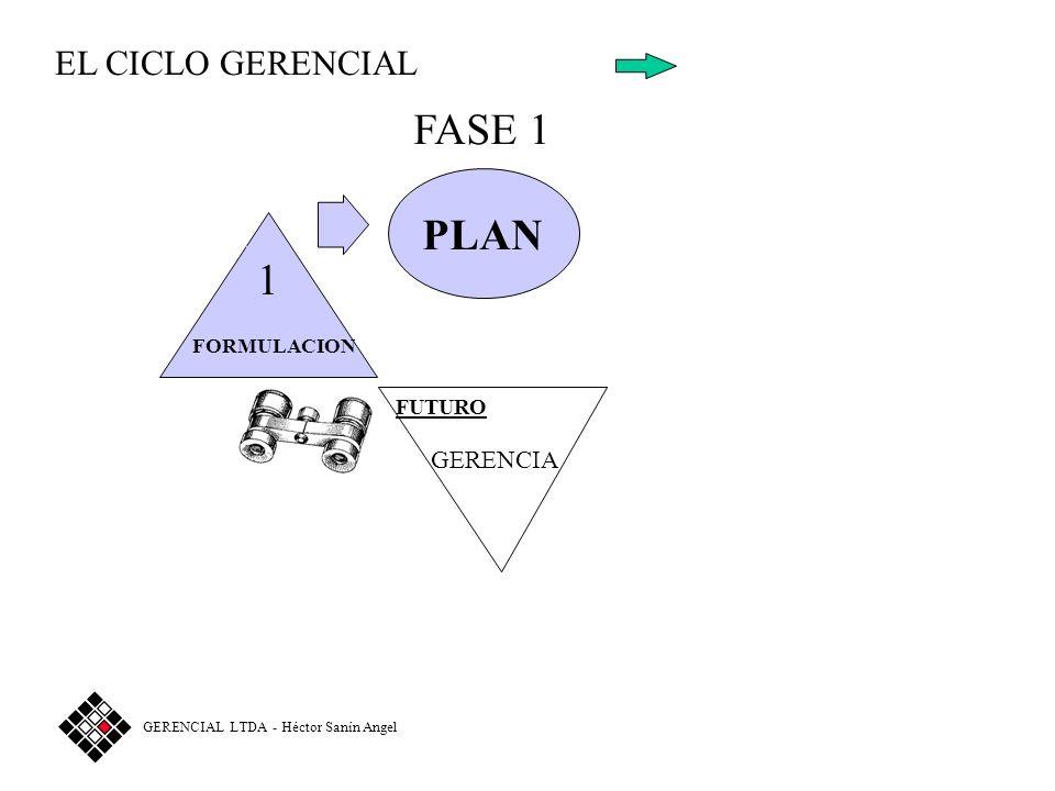 FASE 1 PLAN 1 EL CICLO GERENCIAL GERENCIA FORMULACION FUTURO