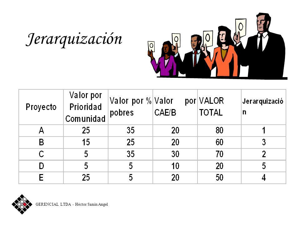 Jerarquización GERENCIAL LTDA - Héctor Sanín Angel