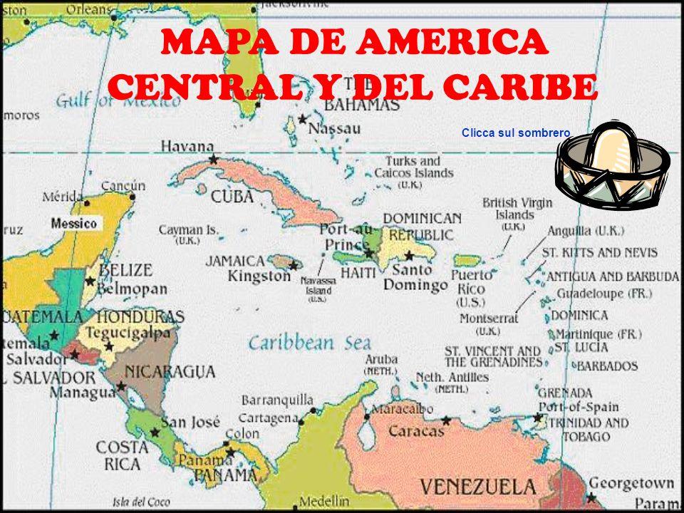 MAPA DE AMERICA CENTRAL Y DEL CARIBE