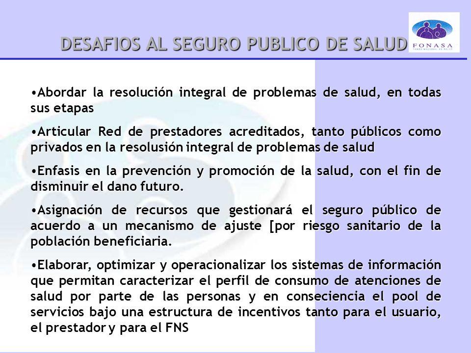 DESAFIOS AL SEGURO PUBLICO DE SALUD