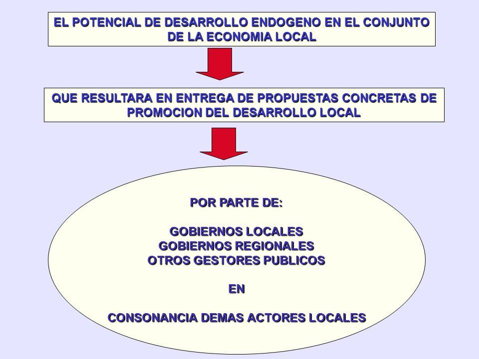 EL POTENCIAL DE DESARROLLO ENDOGENO EN EL CONJUNTO