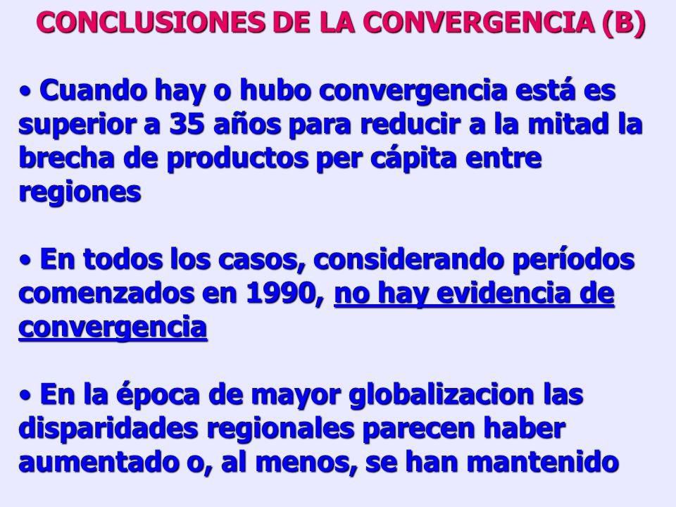 CONCLUSIONES DE LA CONVERGENCIA (B)