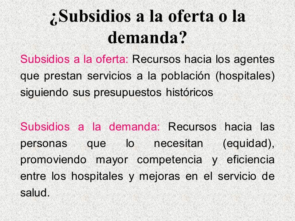 ¿Subsidios a la oferta o la demanda