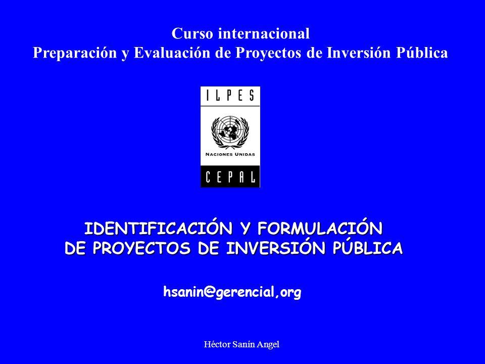 Preparación y Evaluación de Proyectos de Inversión Pública