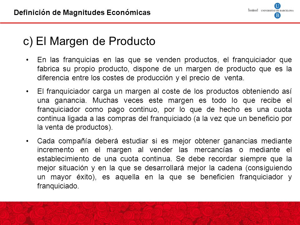 c) El Margen de Producto