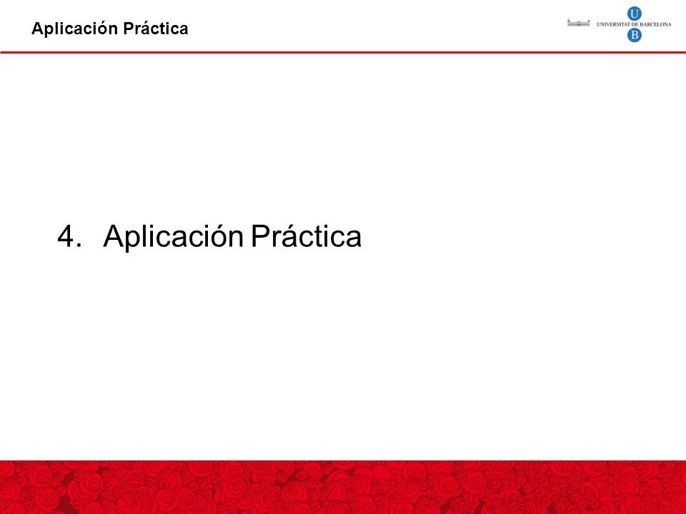 Aplicación Práctica Aplicación Práctica