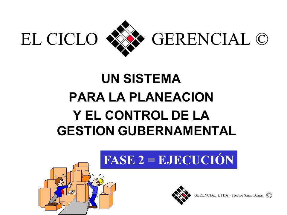 UN SISTEMA PARA LA PLANEACION Y EL CONTROL DE LA GESTION GUBERNAMENTAL