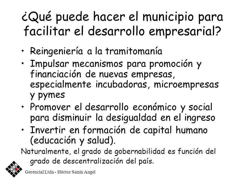 ¿Qué puede hacer el municipio para facilitar el desarrollo empresarial