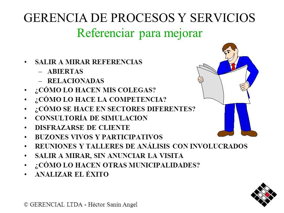 GERENCIA DE PROCESOS Y SERVICIOS Referenciar para mejorar