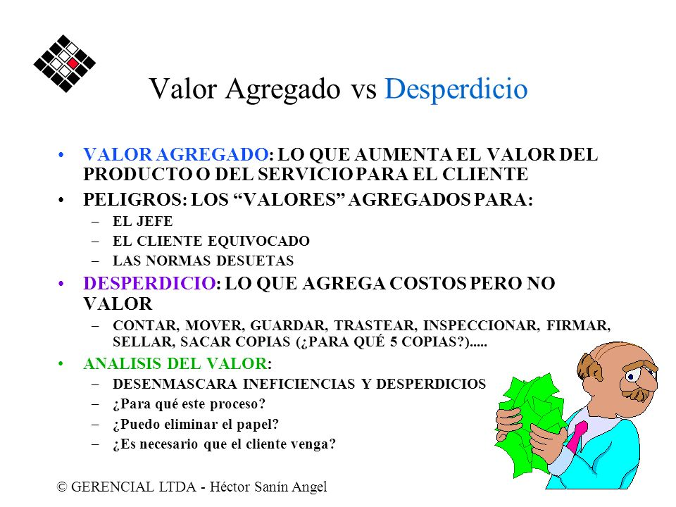 Valor Agregado vs Desperdicio