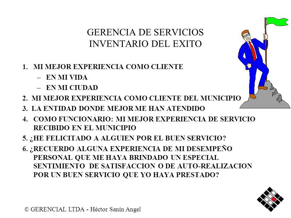 GERENCIA DE SERVICIOS INVENTARIO DEL EXITO