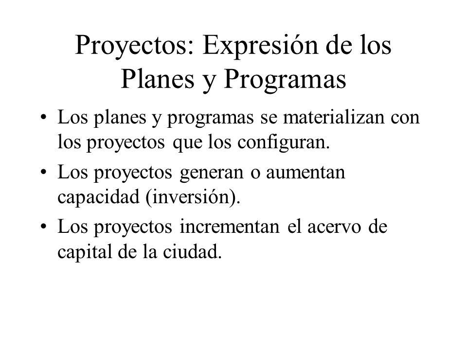 Proyectos: Expresión de los Planes y Programas
