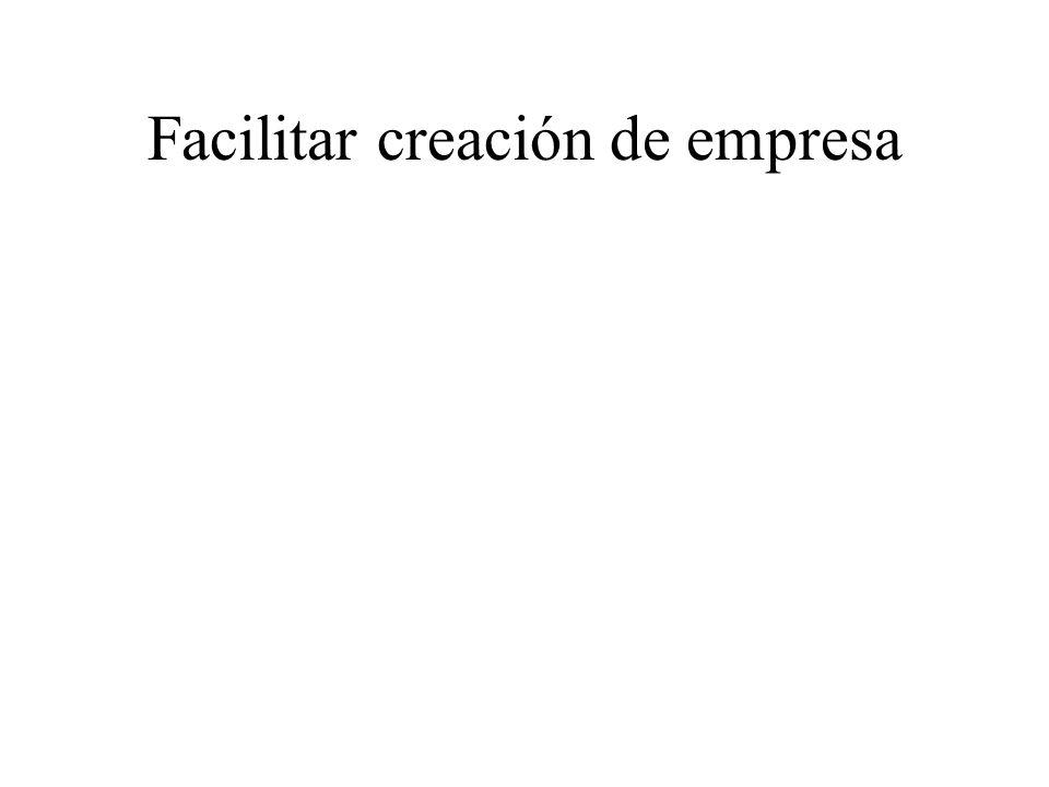Facilitar creación de empresa