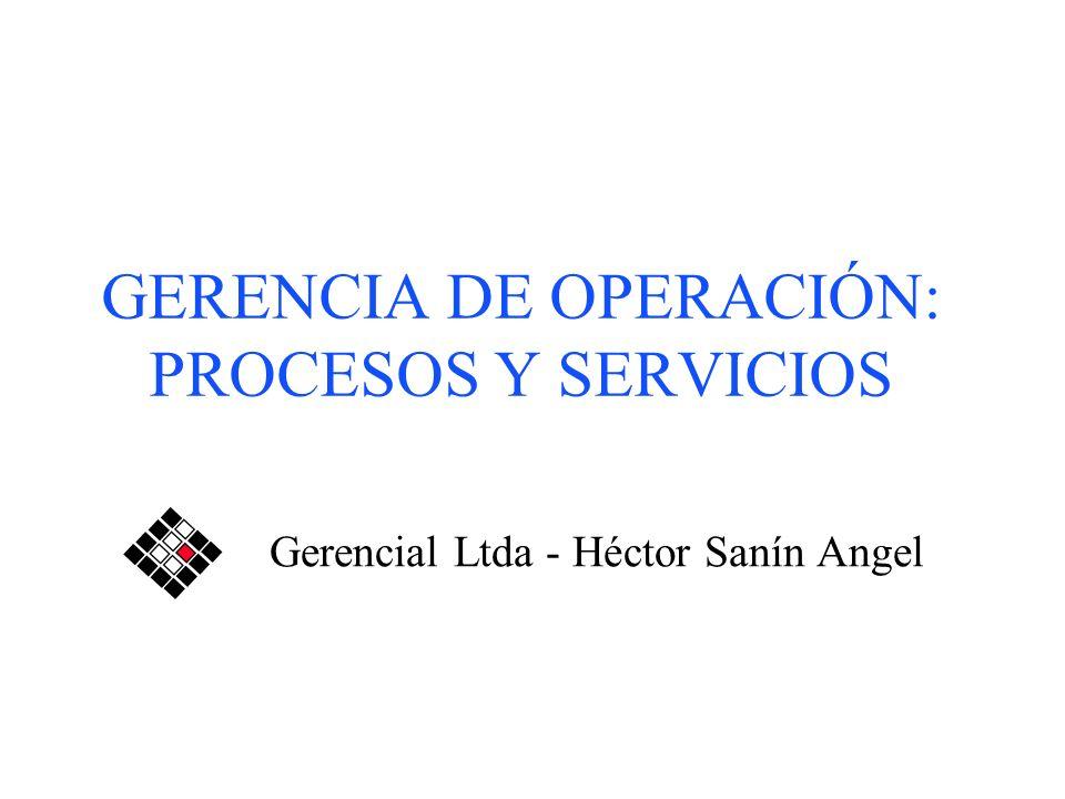 GERENCIA DE OPERACIÓN: PROCESOS Y SERVICIOS