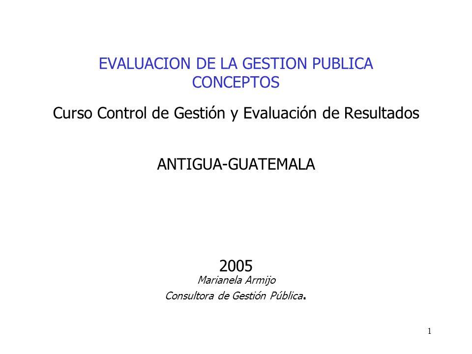 EVALUACION DE LA GESTION PUBLICA CONCEPTOS