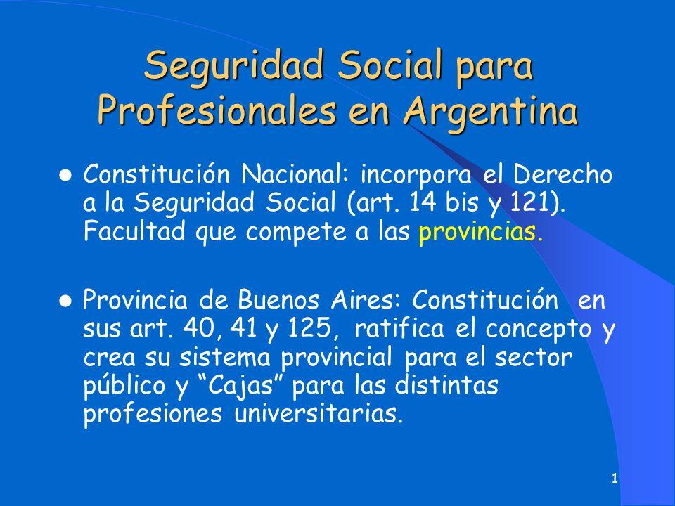 Seguridad Social para Profesionales en Argentina