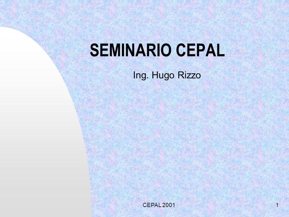 SEMINARIO CEPAL Ing. Hugo Rizzo CEPAL 2001