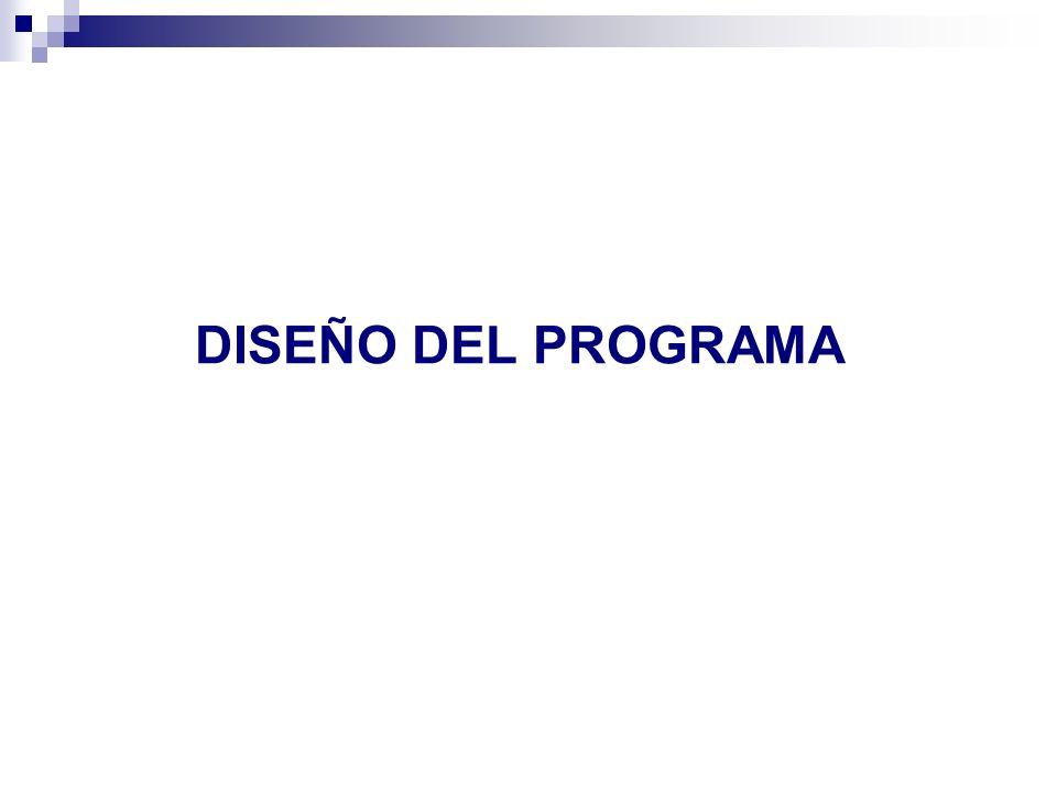 DISEÑO DEL PROGRAMA