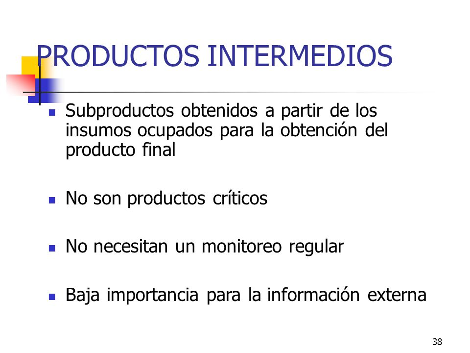 PRODUCTOS INTERMEDIOS