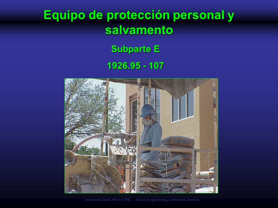 Equipo de protección personal y salvamento