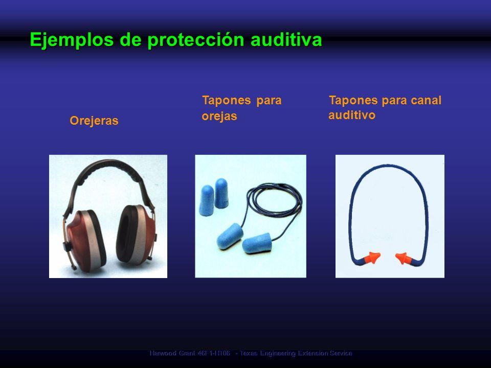 Ejemplos de protección auditiva