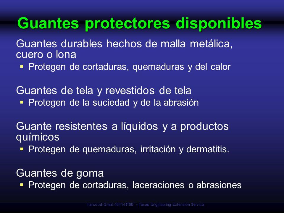 Guantes protectores disponibles