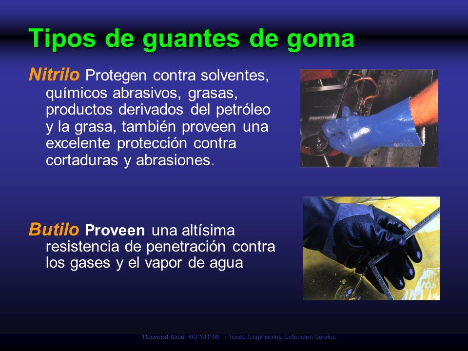 Tipos de guantes de goma