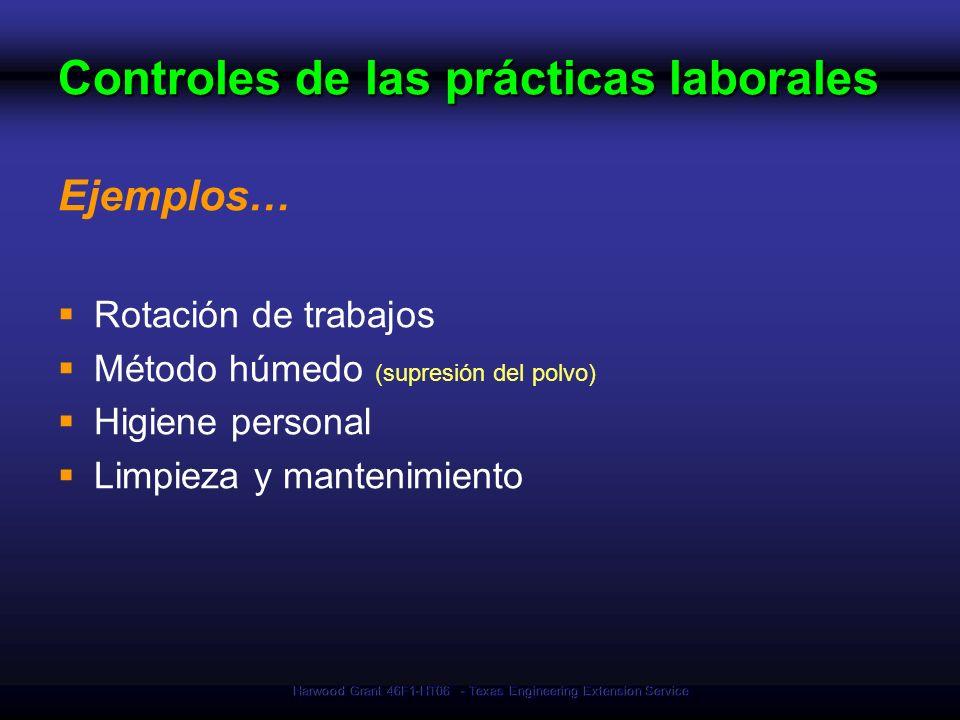 Controles de las prácticas laborales