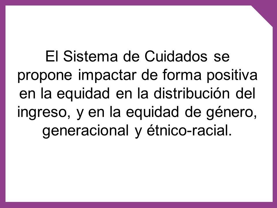 El Sistema de Cuidados se propone impactar de forma positiva en la equidad en la distribución del ingreso, y en la equidad de género, generacional y étnico-racial.