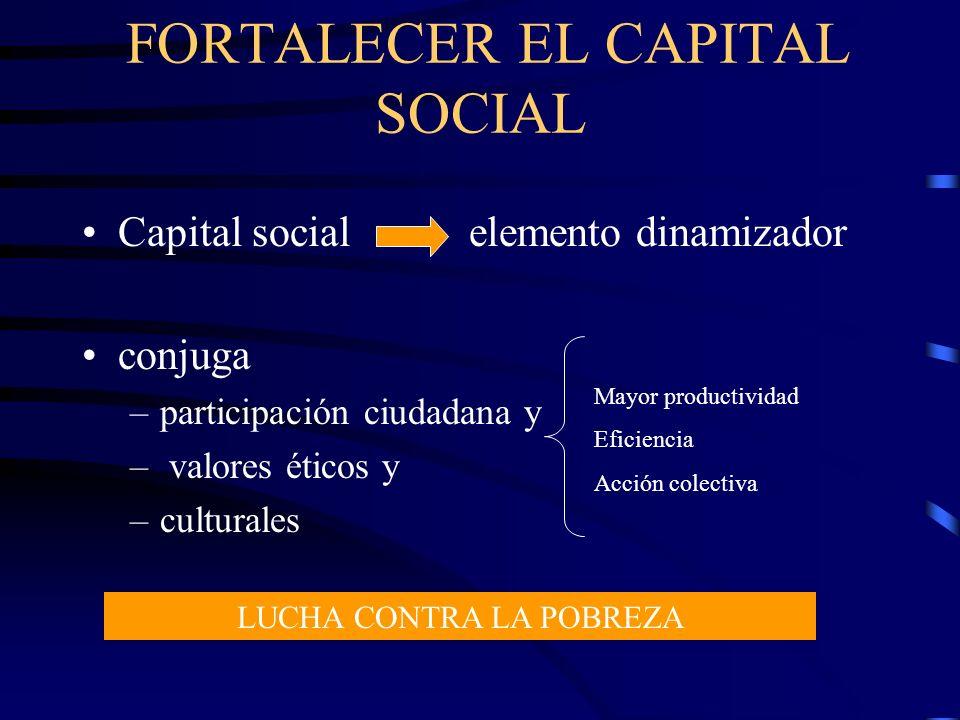 FORTALECER EL CAPITAL SOCIAL