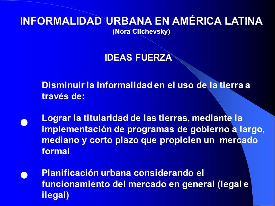 INFORMALIDAD URBANA EN AMÉRICA LATINA