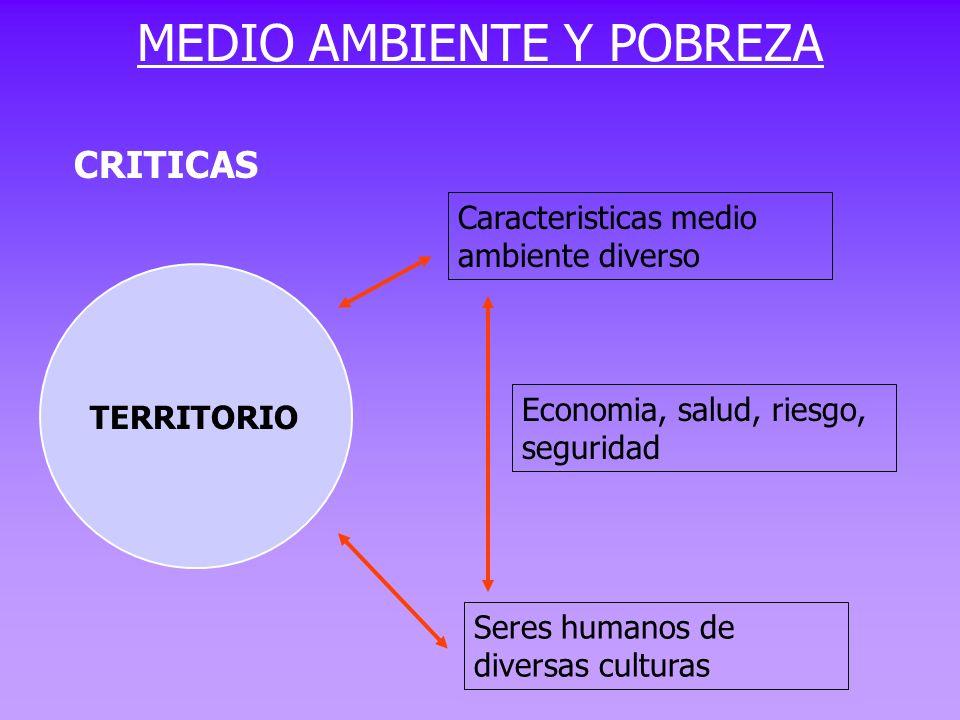 MEDIO AMBIENTE Y POBREZA
