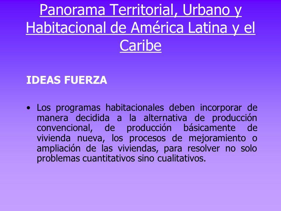 Panorama Territorial, Urbano y Habitacional de América Latina y el Caribe