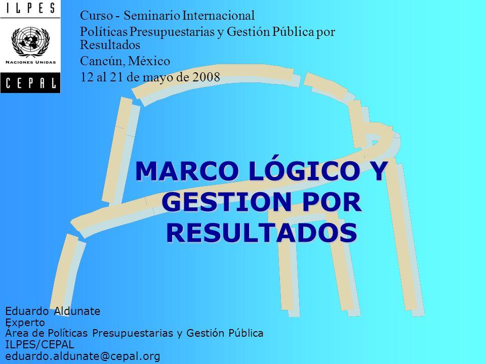 MARCO LÓGICO Y GESTION POR RESULTADOS