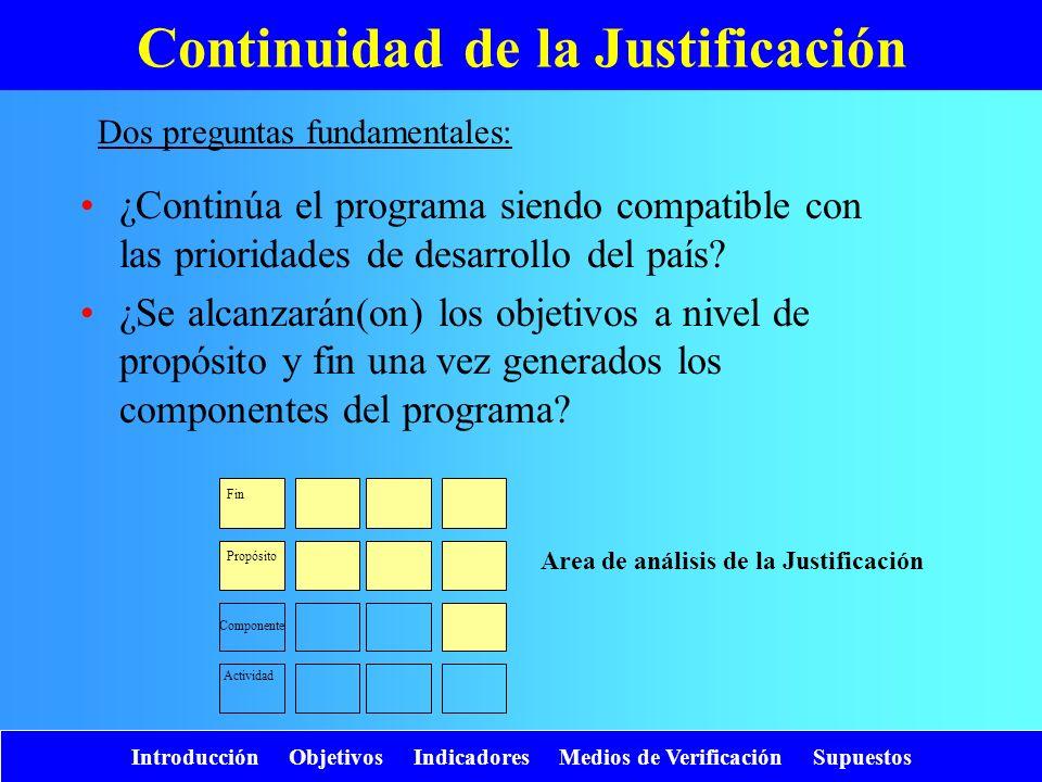 Continuidad de la Justificación