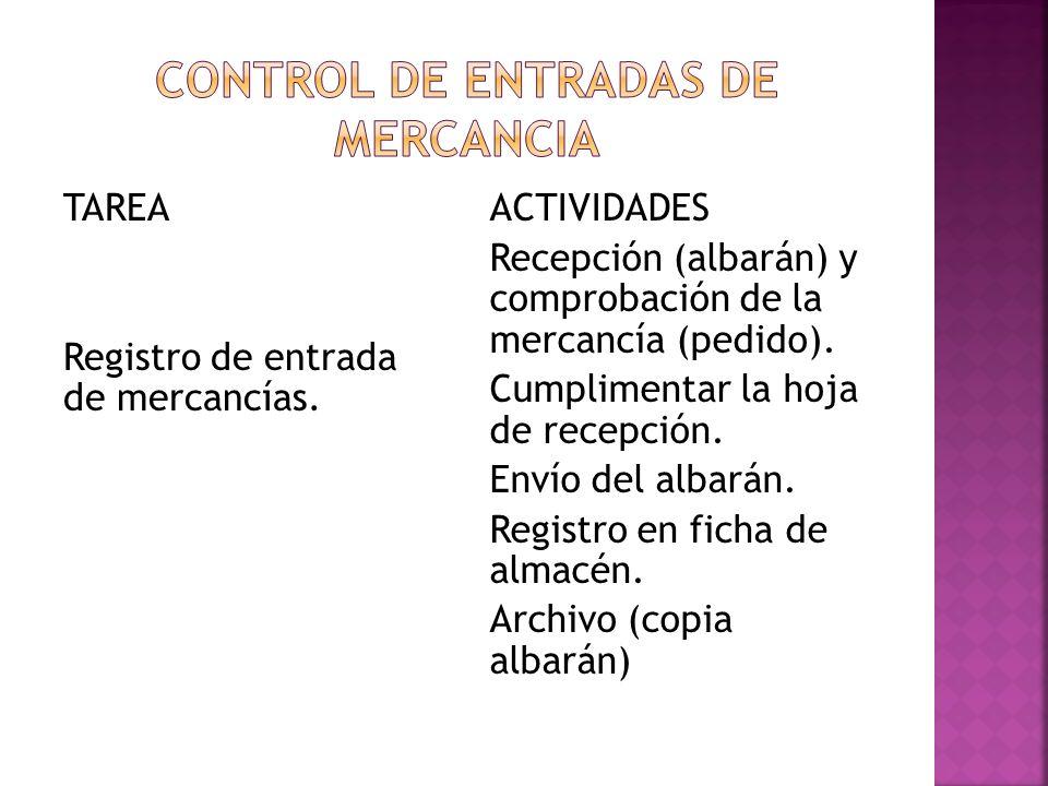 Control de entradas de mercancia