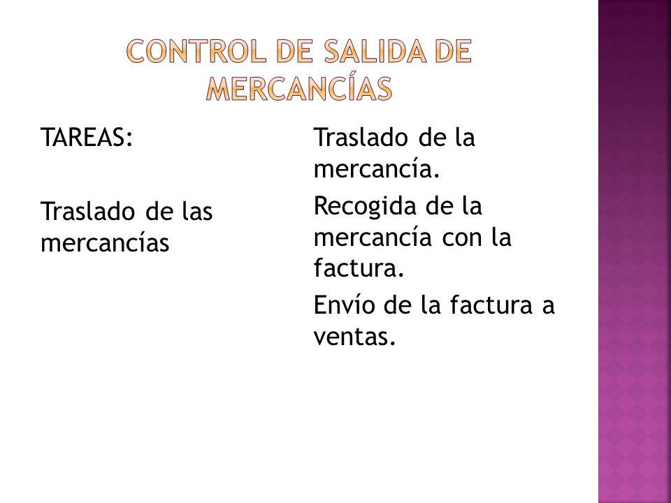 Control de salida de mercancías